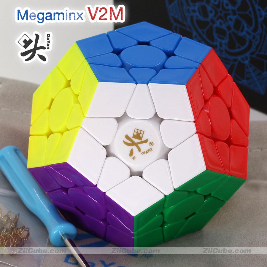 دايان المغناطيسي Megamin مكعب 3x3 V2M المغناطيس Dodecahedron عصا megaminxads المهنية الضغط لعبة تويست الحكمة لعبة