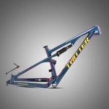 TWITTER Carbon Full Suspension Mountainbike Rahmen 29 steckachse 12*148mm 27,5 er 650B Carbon Fibre T1000 mtb Rahmen
