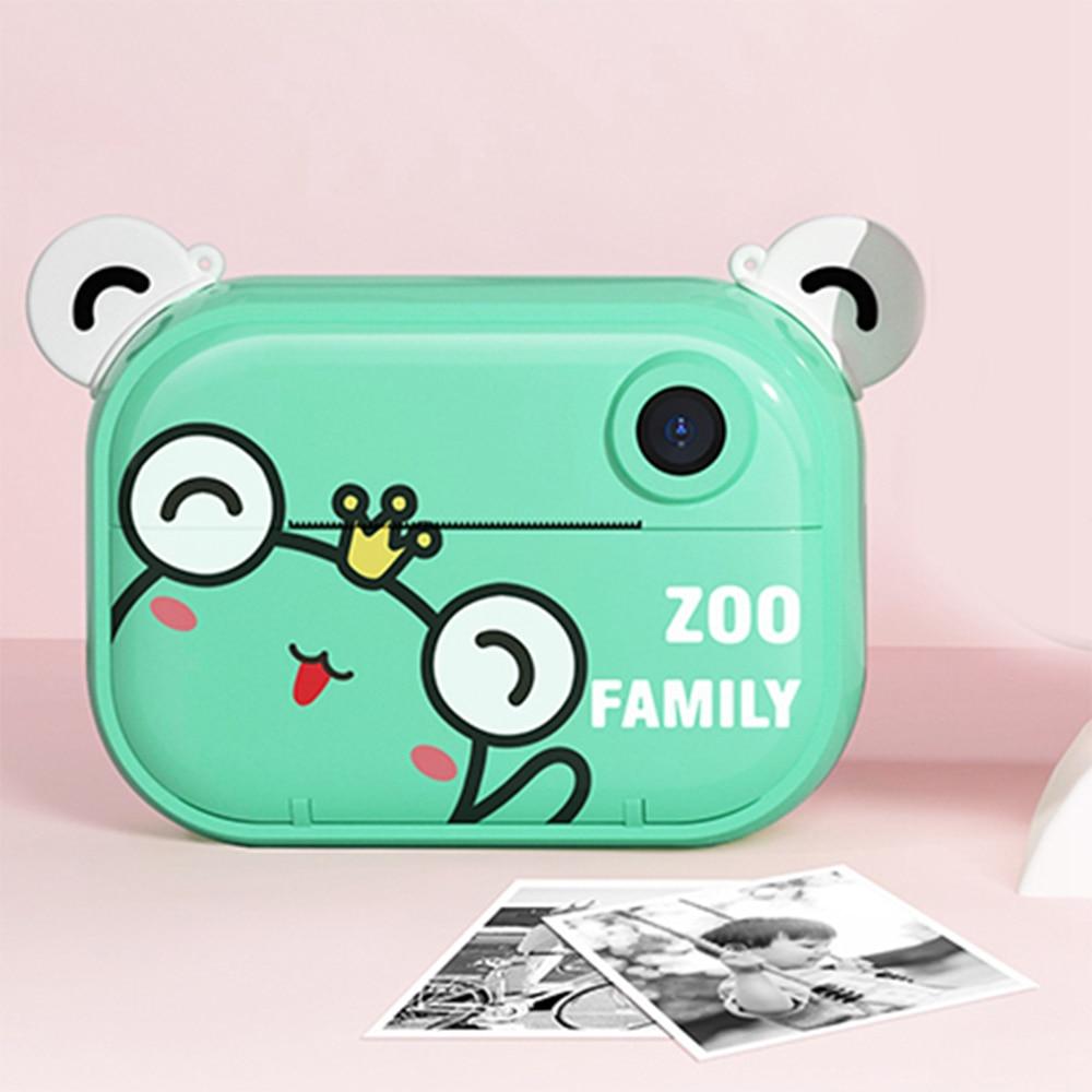 واي فاي الاطفال طباعة كاميرا 2.4 بوصة IPS شاشة صغيرة لطيف الطباعة الفورية كاميرا فيديو للبنين بنات C3 برو