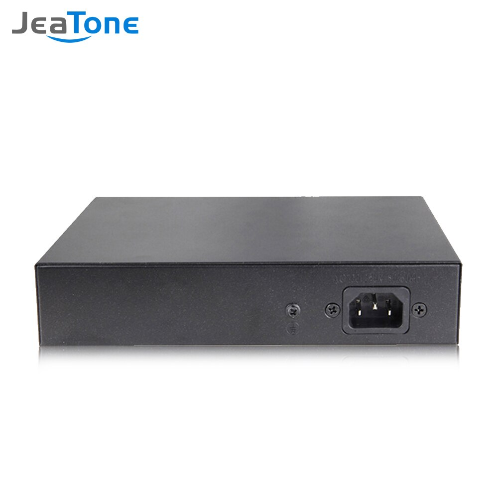 Jeatone 48V 10-port 10/100/M Network POE Switch Ethernet IEEE 802.3af/at Suitable for IP camera/Wireless AP/CCTV camera 250m enlarge