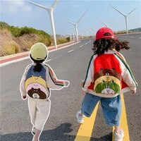 boys and girls spring and autumn coats 2021 new cartoon 0 9 years old childrens clothes korean baby kids baseball jackets
