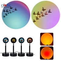 sunset projector lamp rainbow atmosphere lamp family bedroom coffee shop background wall wedding decoration table lamp gifts