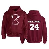 teen wolf hoodie men mccall 11 lacrosse stilinski 24 lahey 14 print pullover mens hoodies red hood sweatshirts women anime hoodi