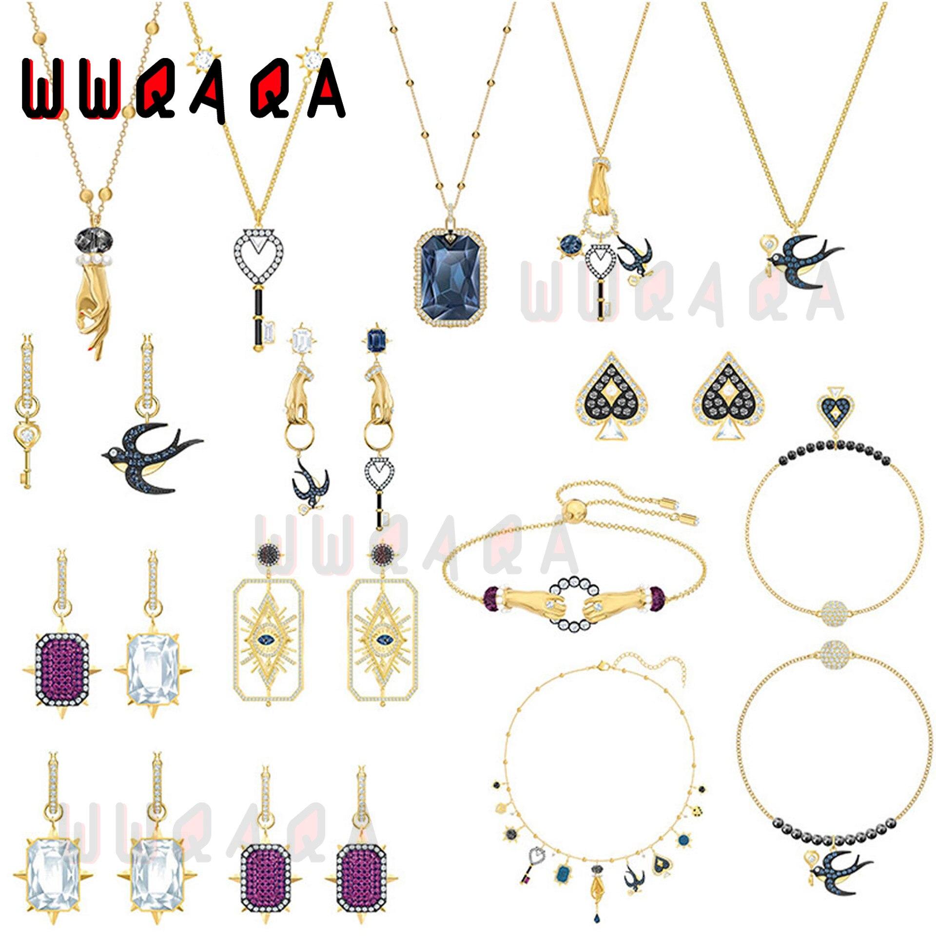 Модные-женские-ювелирные-изделия-swa-очаровательные-изысканные-Волшебные-ювелирные-изделия-Таро-ожерелья-браслеты-набор-женских-ювелирн