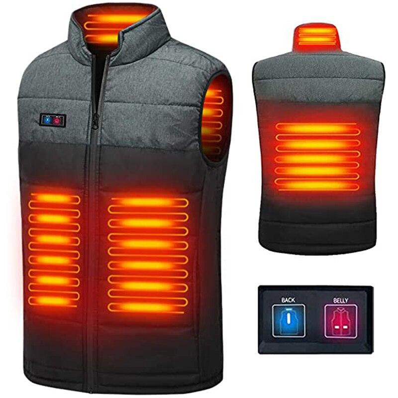 سترة ساخنة خفيفة الوزن جاكت للتدفئة USB الكهربائية الجسم دفئا الملابس للرجال والنساء (البطارية غير المدرجة)