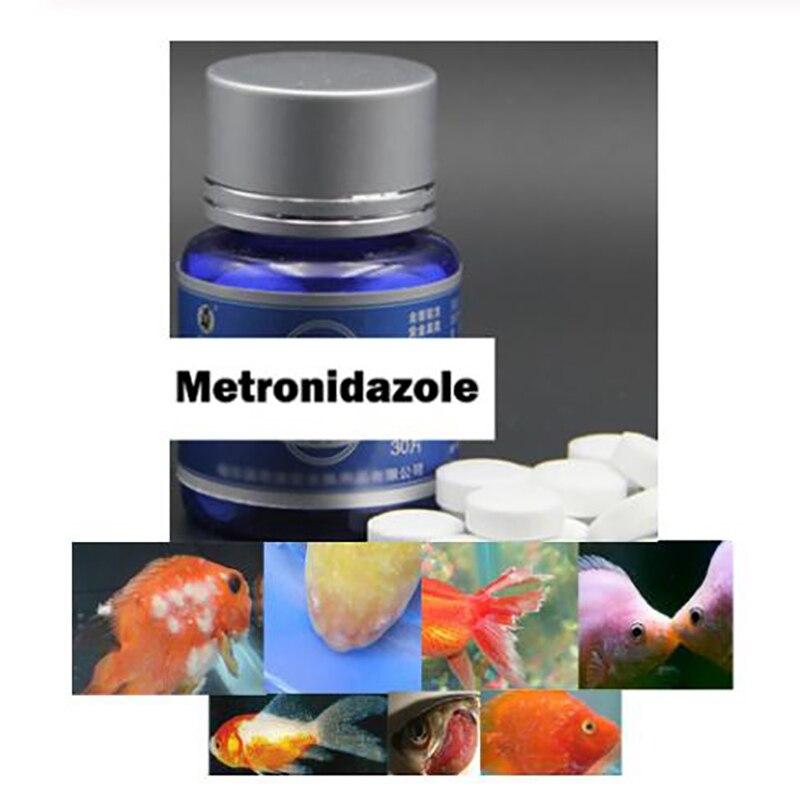 30 comprimidos peixe fungicida metronidazole medicina aquário tratamento tropical peixe regular droga anti emalhar parasitas bacteriano novo