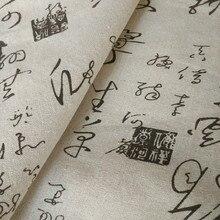 Chińskiej czcionki profesjonalnego drukowania i farbowania obrus na płótnie kurtyna poduszka len z nadrukiem tkaniny ręcznie DIY tkanina bawełniana