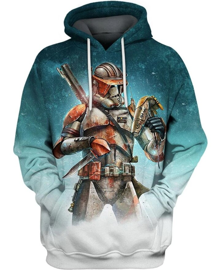 PLstar Cosmos Star Wars 3d hoodies Starry Clone Commander Cody  Sweateshirt 3d Crewneck Pullovers casual Long Sleeve Outerwear