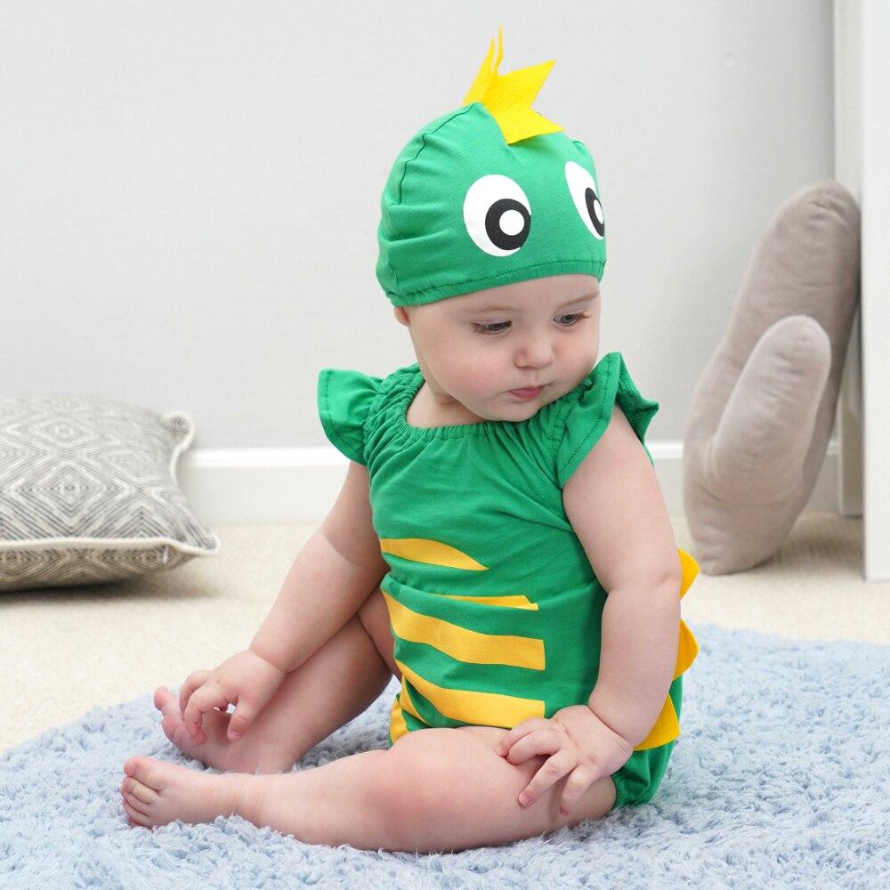 Infant Toddler Summer Short Romper Baby Boys Girls Animal Dino Dinosaur Costume Photoshoot Halloween Party Fancy Dress