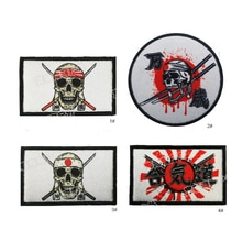1PC 3D haft japonia Kamikaze seria długie życie opaska na ramię tkaniny naklejki odzież kurtka dżinsowa plecak odznaka ikona