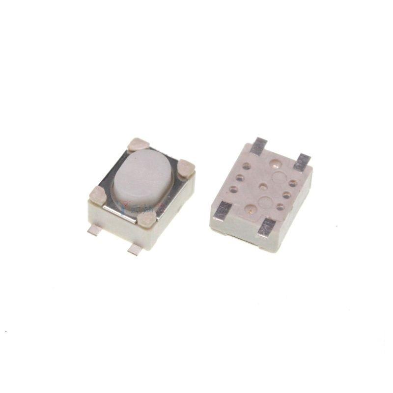 4-контактные микропереключатели 1000 шт./лот, кнопка 3x4x2,5, мини тактовый переключатель 3*4*2,5 мм, 4-контактная тактильная кнопка переключателя SMD