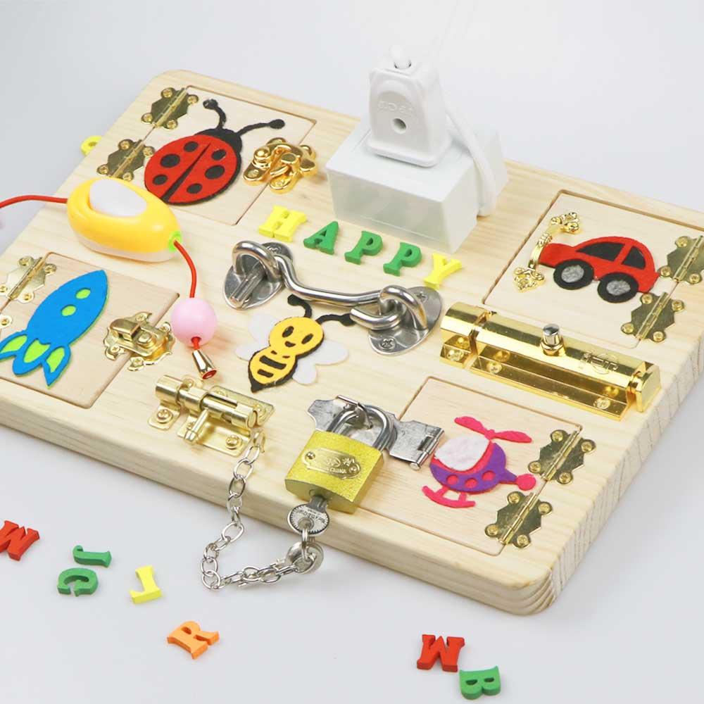 Детская Доска для занятий Монтессори, игрушки для детей, детские деревянные элементы «сделай сам», Детские Игрушки для раннего развития