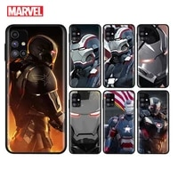 marvel avengers war machine for samsung note 20 10 9 8 ultra lite plus pro f62 m62 m60 m40 m31s m21 m20 m10s soft phone case
