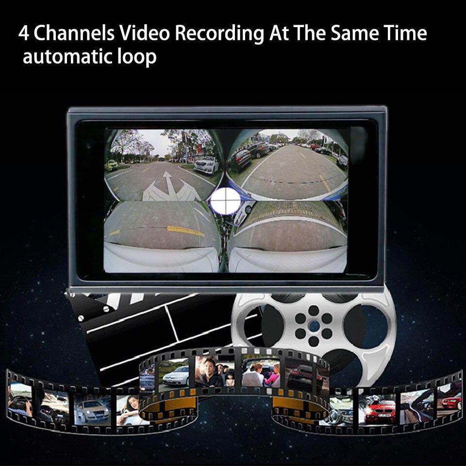 Car Video Interface For AUDI Q2 Q5 Q7 A4 Quad Recording Car DVR All Veiw Panoramic Camera 360 Degree Parking Asisstance System