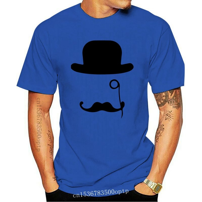 New Hat Monocle Moustache Snob Art Men'S (Woman'S Available) Grey T Shirt Big Tall Tee Shirt