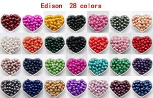 Wholesale Bulk Rainbow Colored Loose Edison Pearls 9-12MM Big Loose Pearls Not In Oyster 28 Colors XK5