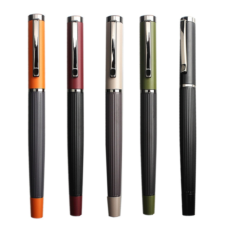 Роскошная элегантная цветная металлическая ручка в стиле ретро, в подарок, для студентов, школьные канцелярские принадлежности, чернильные...