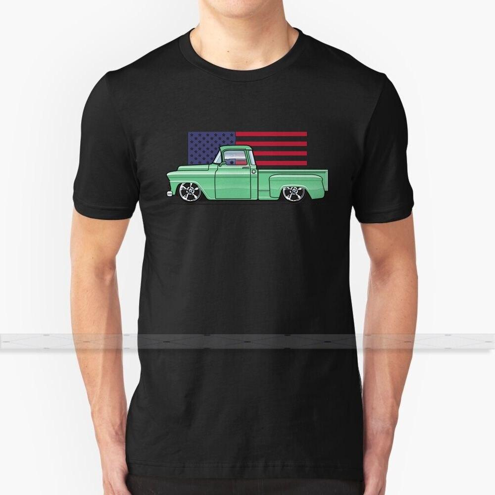 58 - 59 Apache verde Camiseta de algodón de diseño personalizado para hombres mujeres camiseta verano Tops 1958 58 1959 59 Chevrolet Apache