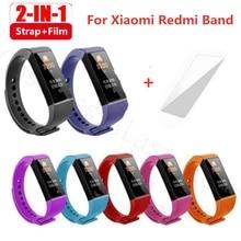Bracelet de rechange 2 en 1 pour Xiaomi Mi Band 4c, en Silicone