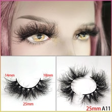 25mm 100% handmade natural thick Eye lashes wispy makeup extention tools 3D mink hair volume soft fa