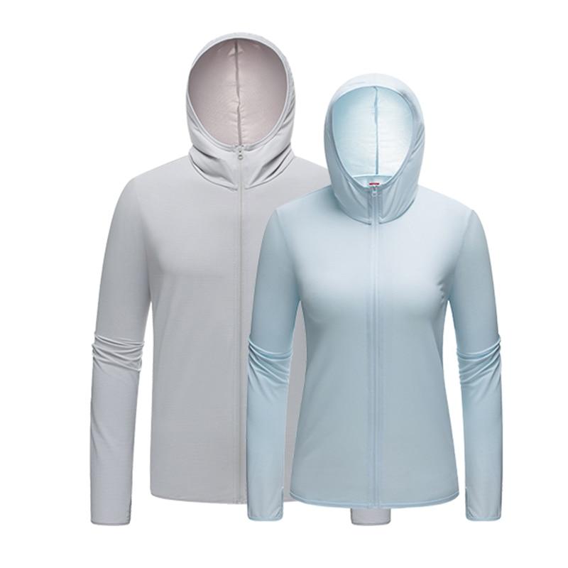 الجليد الحرير واقية من الشمس الملابس النسائية قسم رقيقة تنفس الأشعة فوق البنفسجية حماية الجلد سترة واقية في الهواء الطلق جاكت رياضي