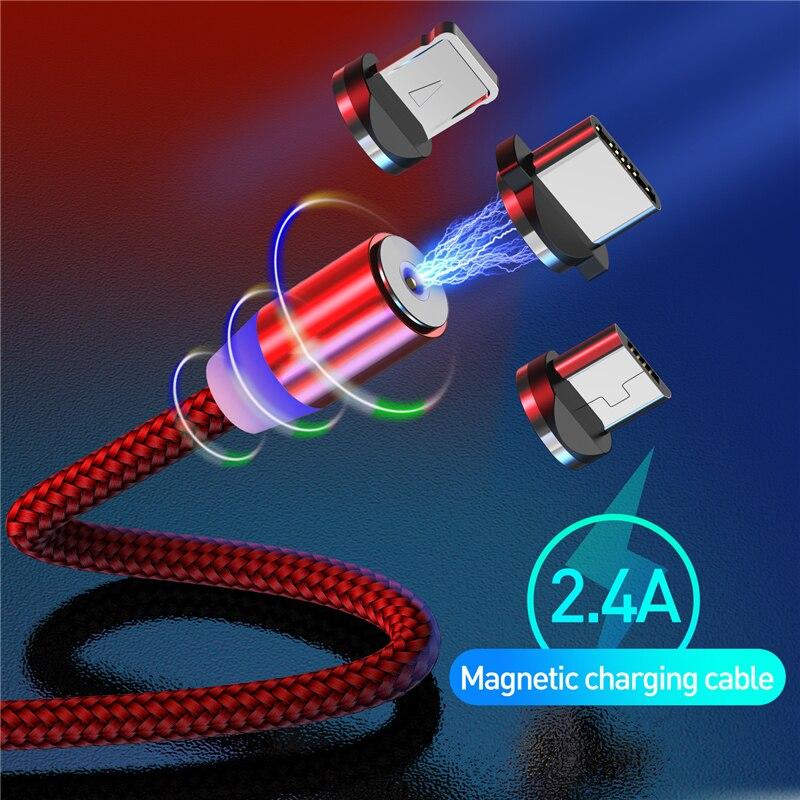 Cable magnético 3 en 1 para teléfono móvil, Cable Micro USB C...