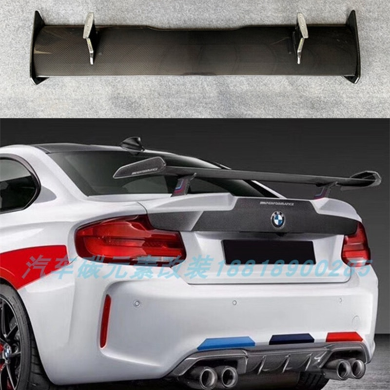 De alta calidad de fibra de carbono de spoiler para BMW M1 M2 M3 M4 M5 M6 spoiler cola arma M6 tableta amortiguador Tech accesorio beige Rojo Negro compruebe Tartan tableta amortiguador 4 5 5 5 6 6 7 Serie estilo M