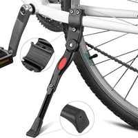 blackwhite adjustable mtb road bicycle kickstand parking rack mountain bike support side kick stand foot brace cycling parts