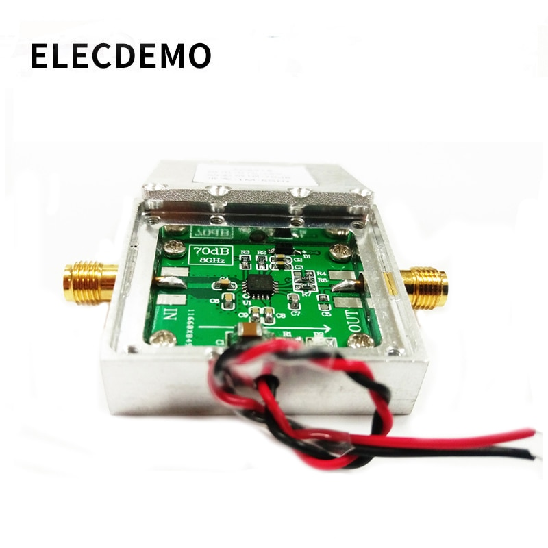 1-8000MHz AD8318With cavity  RF Logarithmic Detector 70dB RSSI Measurement Power Meter Board Module Standard SMA Female