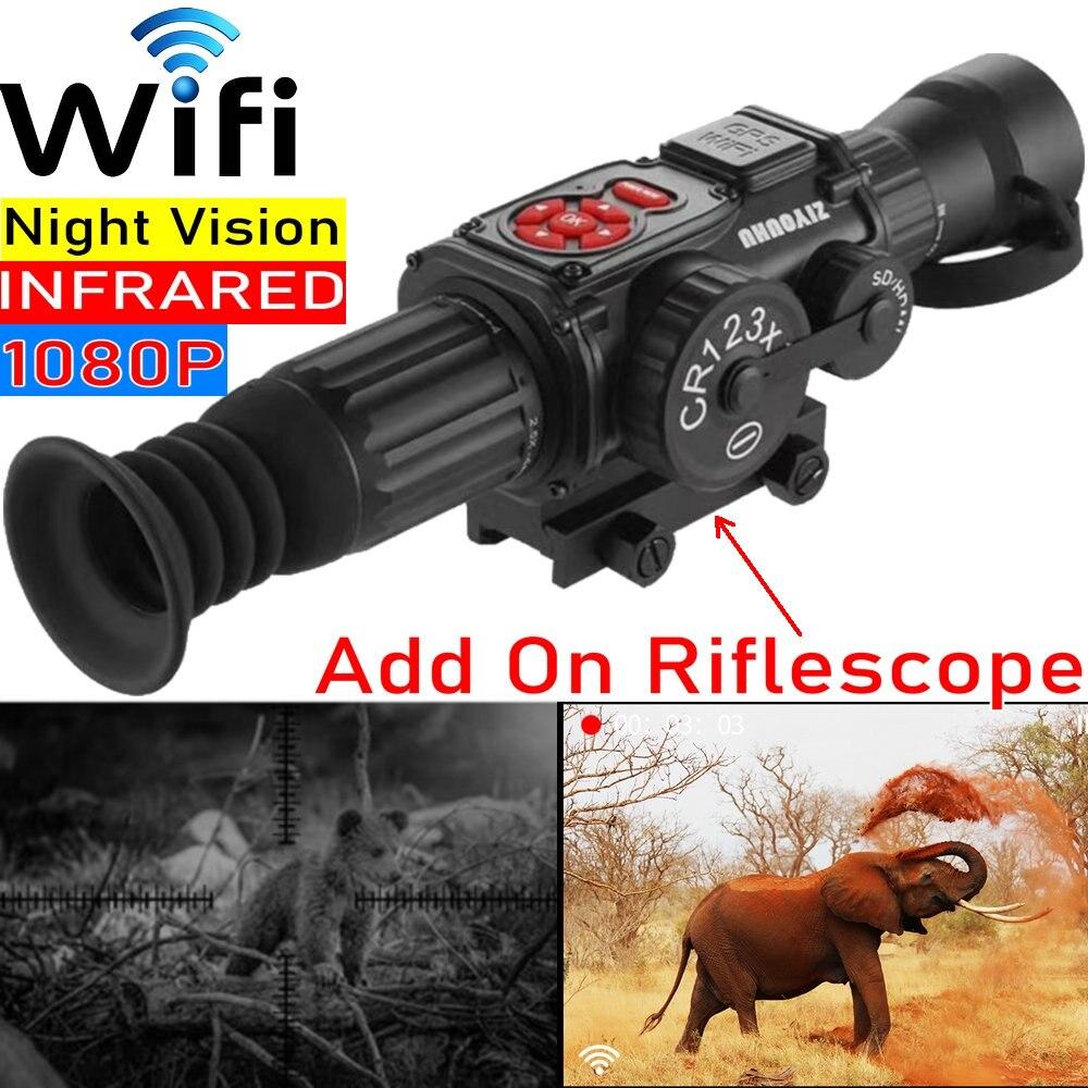Night Vision Riflescope Wifi Monocular Day / NV HD 1080P Infrared Camera Hunting Trail Scope telescope Video Recorder binocular