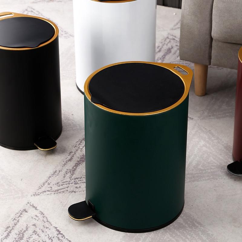 Nordic modern design Trash Can Bedroom Minimalist Luxury Trash Bin home Creativity Poubelle De Cuisine kitchen storage BC50LJT enlarge
