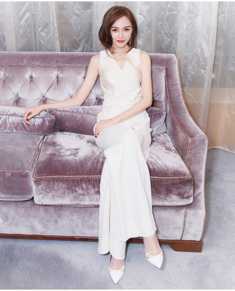 2020 new summer office lady Fashion casual loose brand female women ladies girls sleeveless jumpsuits clothing