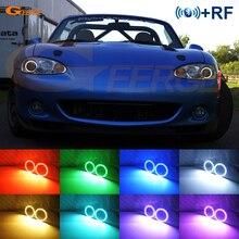 Pour MAZDA MX-5 2000 2001 2002 2003 2004 2005 RF télécommande Bluetooth APP multicolore Ultra lumineux rvb LED ange yeux Halo anneau kit
