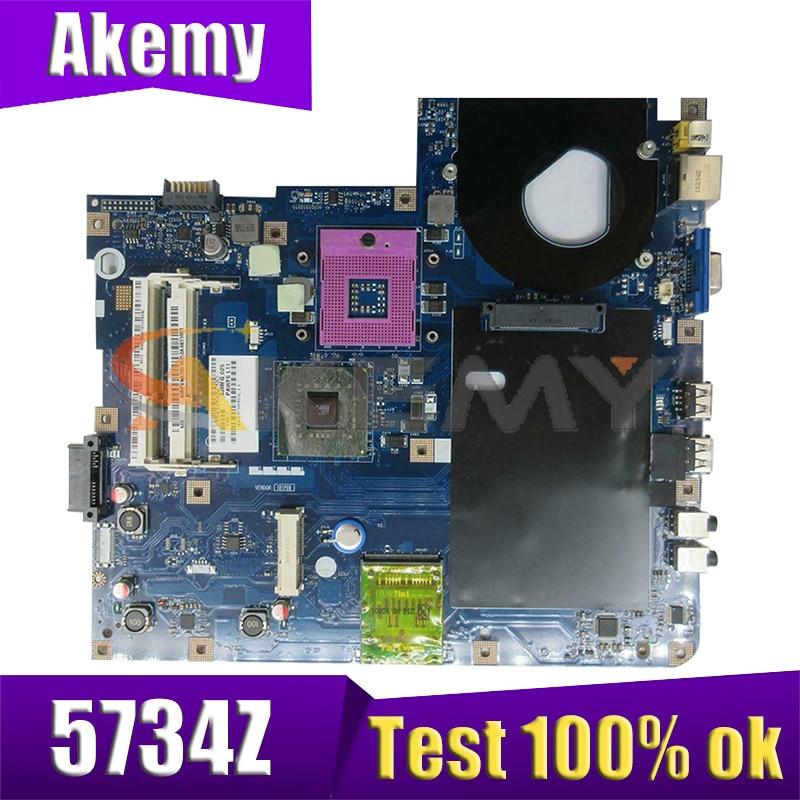 AKEMY PAWF5 LA-4855P MBNAK02002 Maiboard ل acer أسباير 5734 5734Z اللوحة المحمول GL40 DDR3