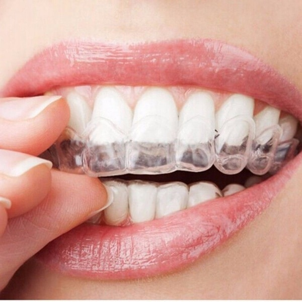 2 pary śpiący ochraniacz na zęby zatrzymaj zęby szlifowanie przeciw chrapaniu bruksizm z pudełkiem pomoc w leczeniu zaburzeń snu eliminuje chrapanie opieka zdrowotna