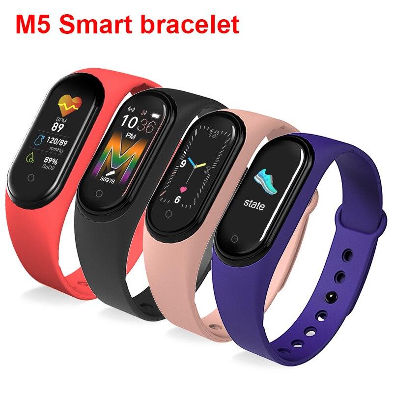 Monitor de Freqüência Relógio Inteligente Esporte Pulseira Freqüência Cardíaca Pressão Arterial Smartband Bluetooth m5