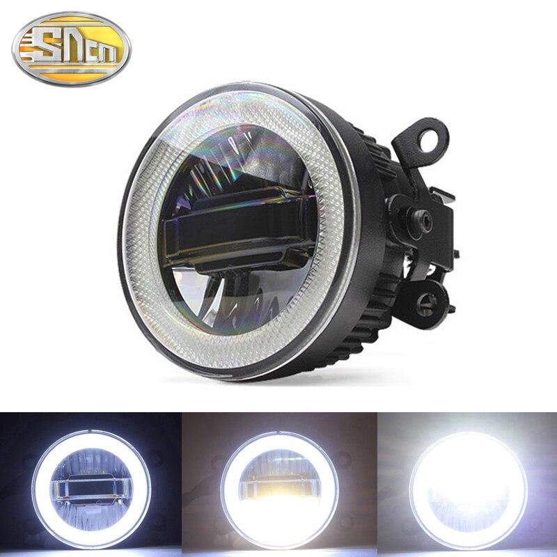 SNCN Safety Driving LED Angel Eyes Daytime Running Light Auto Bulb Fog lamp For Subaru Forester XV Outback BR-Z