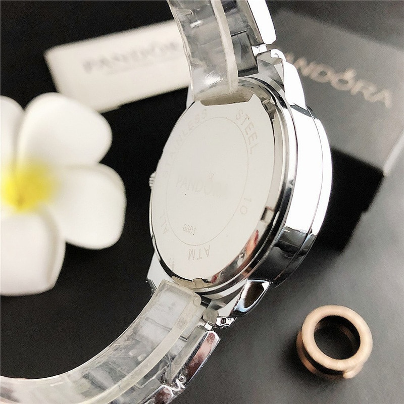 YUNAO Jewelry Simple Small Circle Color Dial Watch Steel Band Waterproof Ladies Quartz Watch Ladies Business Casual Watch enlarge