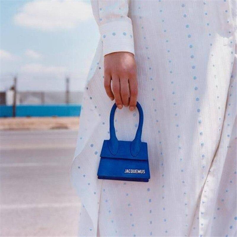 Jacquemus Mini cuadrado pequeño paquete, bolso de hombro, Crossbody paquete embrague Cartera de diseñador Bolsos de ocio Bolsos Mujer