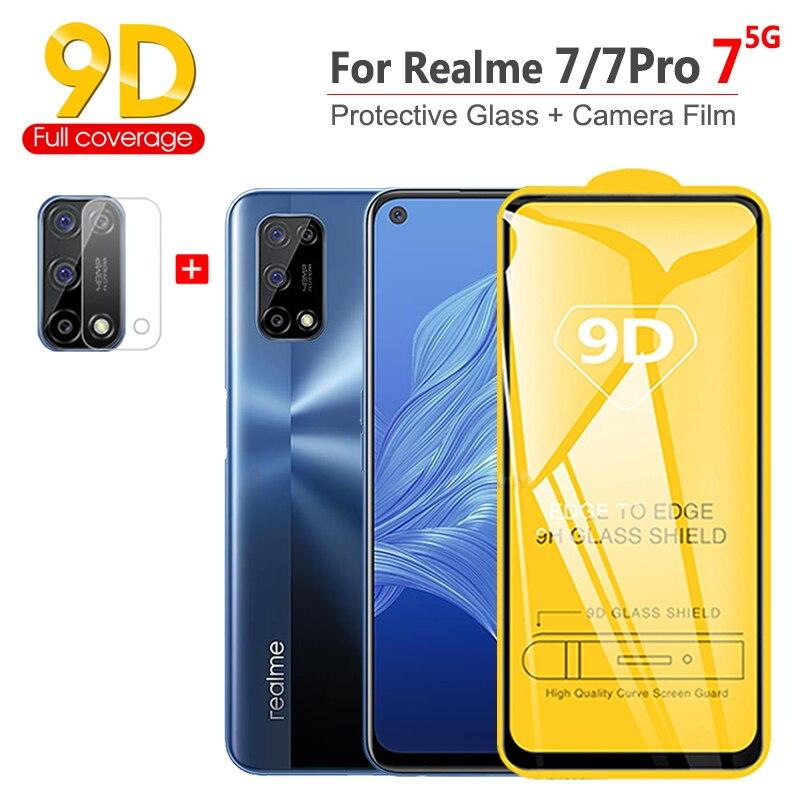 2~5Pcs 9D cristal templado para OPPO Realme-7-5G 8Pro Screen Protector Pantalla +...