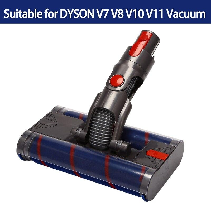 فرشاة آلية مزدوجة أداة لرأس دايسون V8 V7 V10 V11 مكنسة كهربائية لينة مكنسة رأس دوارة فرشاة أرضية