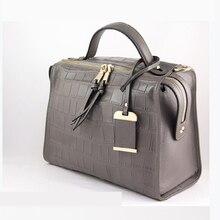 2021 new luxury imported crocodile pattern real cowhide ladies bag large capacity shoulder bag handb