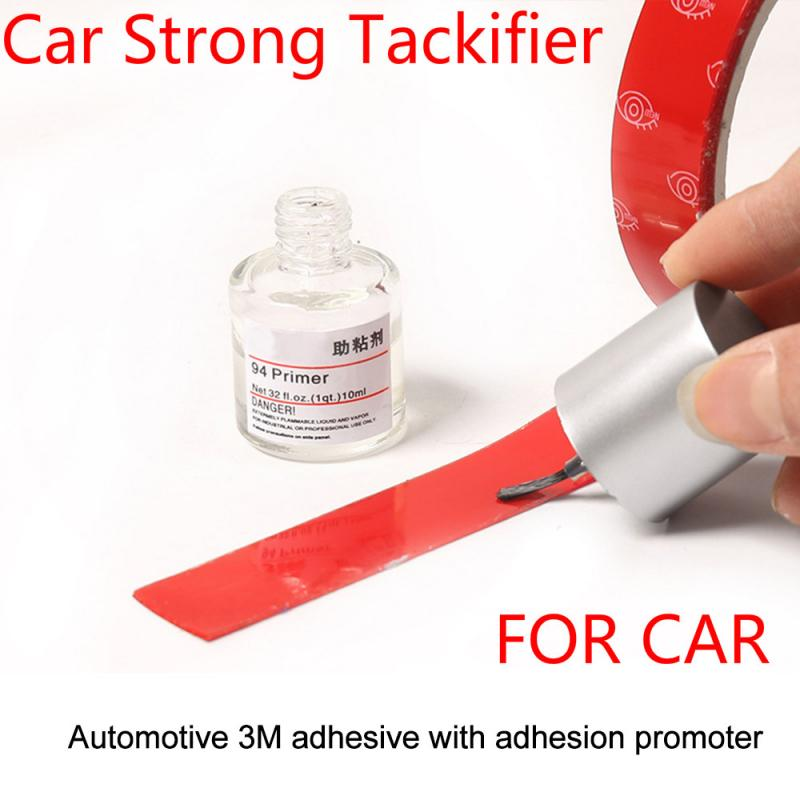 1 Bottle 10ml Car Tape Primer Car Foam Tape Adhesive Double Side Adhesive Strong Tackifier For Windo