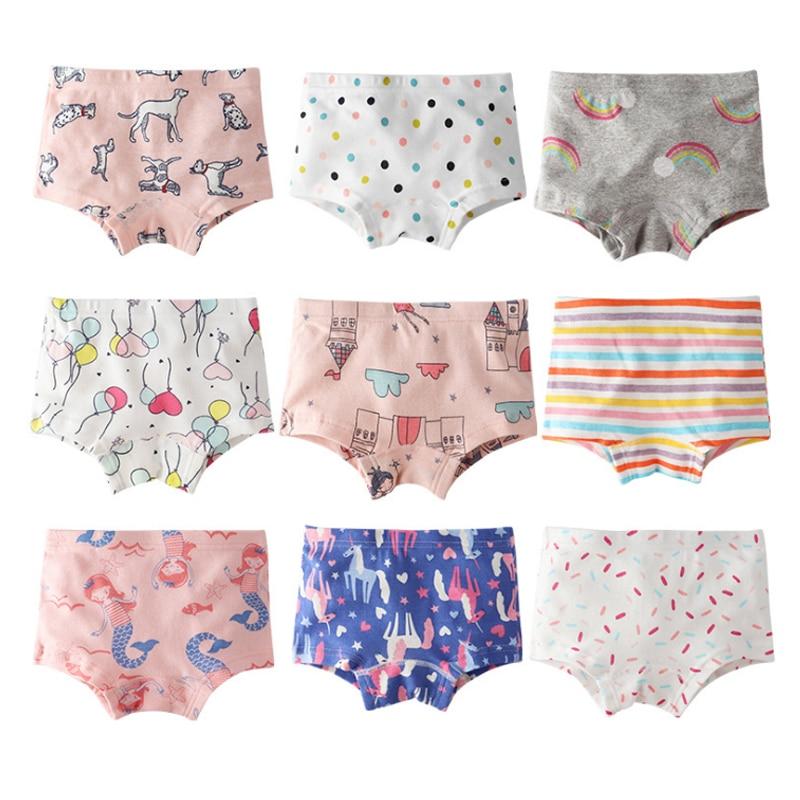 SheeCute da Menina Da Criança & Kids 3-Pacote Roupa Interior 100% Calcinhas de Algodão Macio Do Bebê Calcinhas Cuecas Crianças
