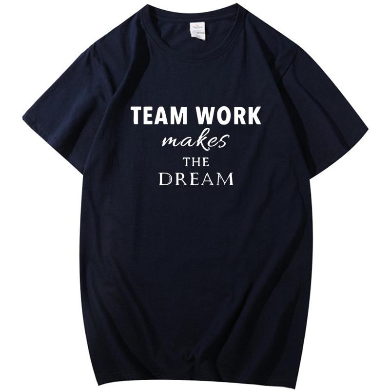 Camiseta de hombre de definición de trabajo de equipo de oficina, divertido regalo de cumpleaños para hombres de ensueño, Camiseta holgada de algodón, ropa de gimnasio de entrenamiento