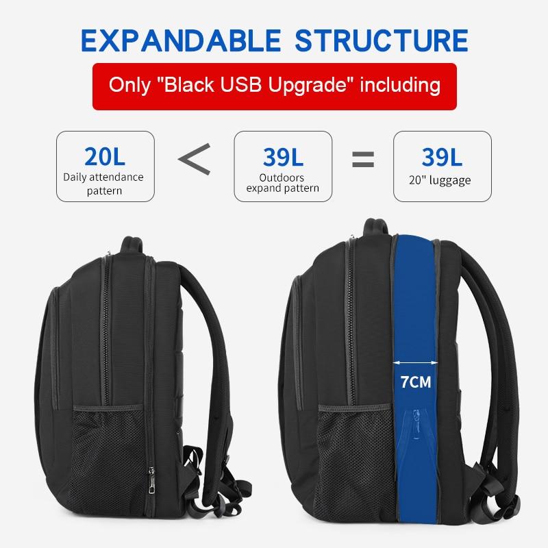 Najlonski ruksak protiv krađe 27l, muški 15,6-inčni ruksaci za - Ruksaci - Foto 6