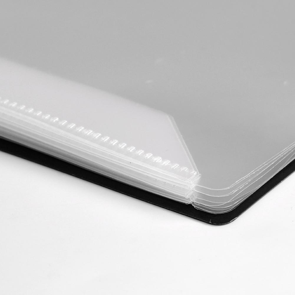 A4 Music Binder 2-Sided Spread Anti-reflective 20 Pages Sheet Music Storage Folder for Musician