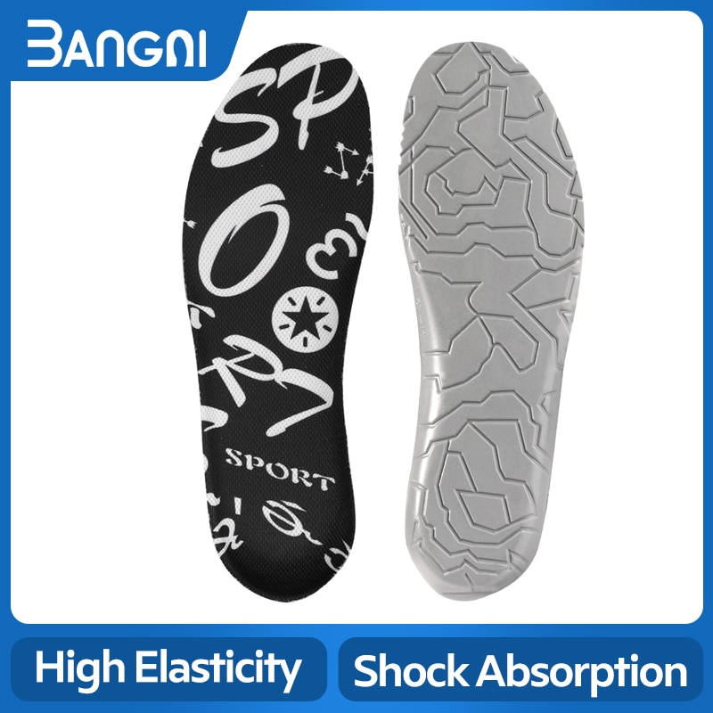 silicone non slip gel soft sport shoe insoles massaging insole orthopedic foot care for feet shoes sole shock absorption pads BANGNI PU Insoles For Foot Care Non-Slip Sole Shock Absorption Relieve Feet Pain Insert Shoe Pads Plantar Fasciitis Men Women