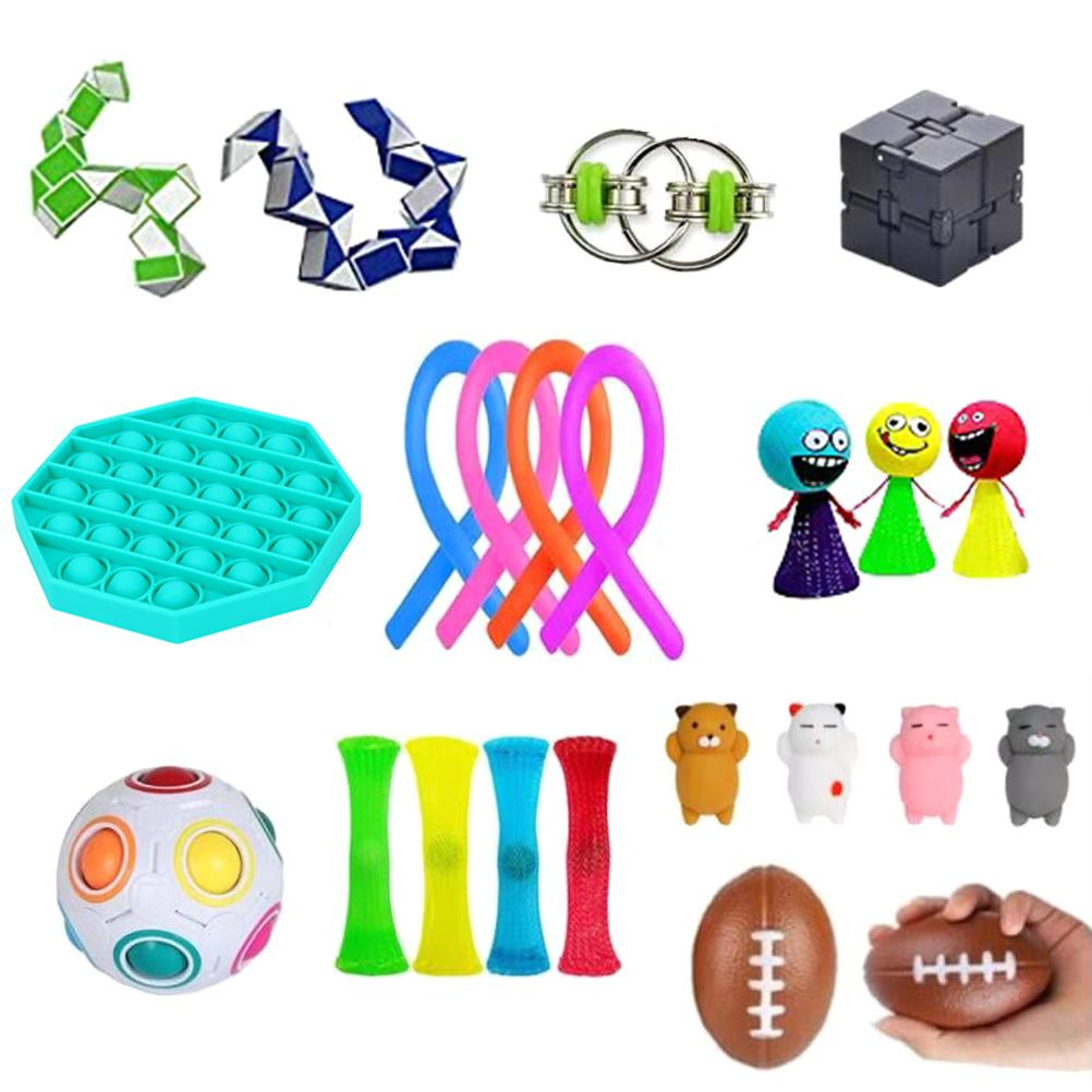 Sensory Toys Set Anti-Anxiety Tools Bundle Squeezing Toy Decompression Ball for Kids and Adults enlarge