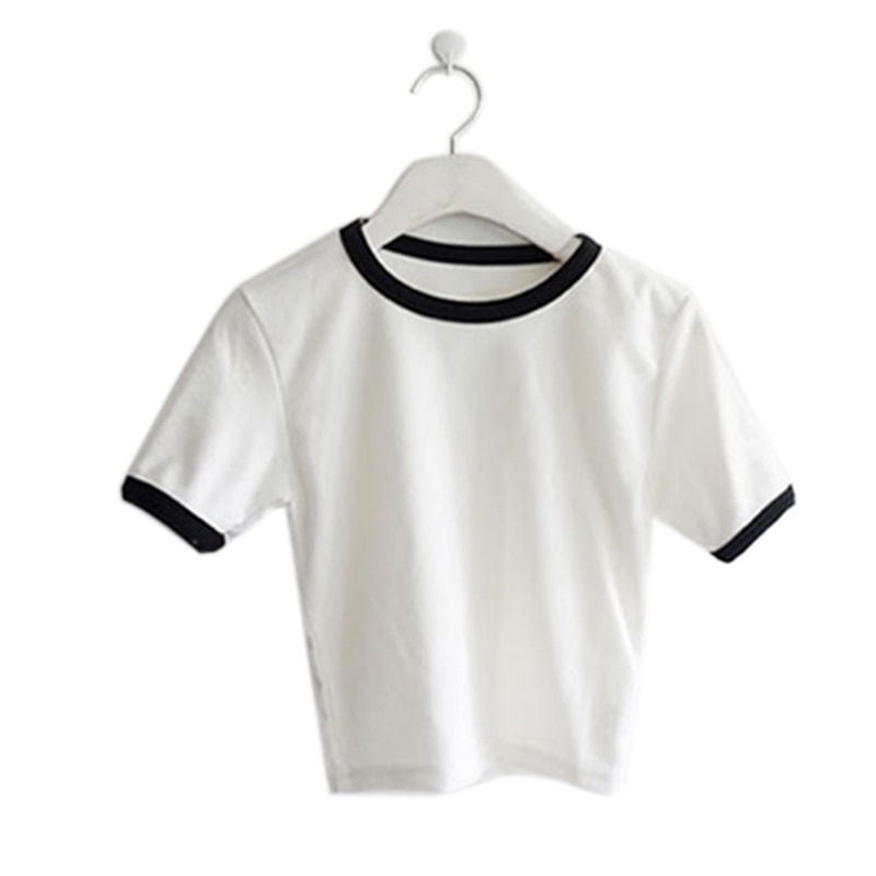 2019 Womens T Shirt Women Short Sleeved Round neck Slim Solid Color Simple Pure Tee T-Shirt For Female shirts